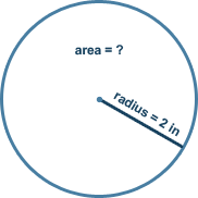 Calculate area of a circle