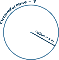 Calculate circumference of a circle