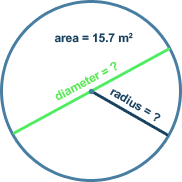 Calculate Radius of a Circle Based on Area